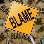 Yellow Blame sign