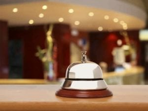 Bell on a hotel desk