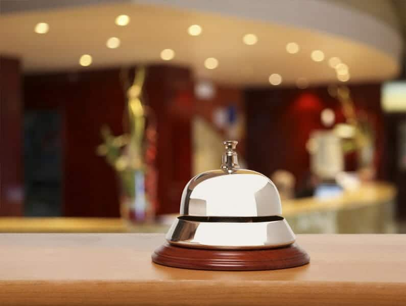 Hotel service bell.