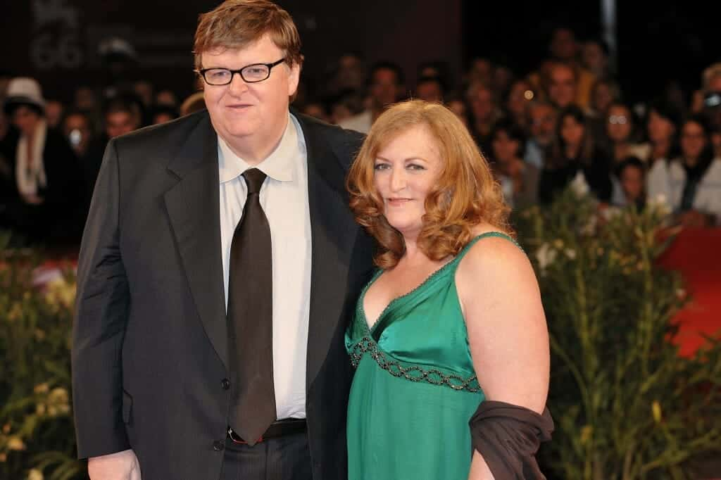 Michael Moore and his (ex) wife.