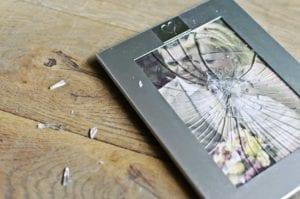 Broken wedding picture