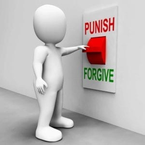 "Don't Believe in Divorce - Figure at a switch labeled ""Punish"" and ""Forgive"""