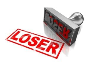 Red Loser Stamp for those who feel like a failure.