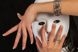 The Truth About Divorce - Woman wearing a mask