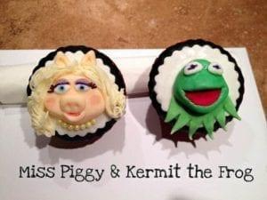 Celebrity Divorces: Kermit & Miss Piggy cupcakes