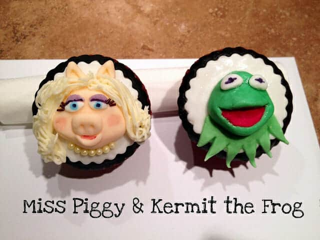 Celebrity Divorces: Kermit & Miss Piggy Cupcakes.