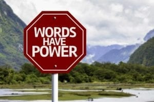 Words Have Power Sign