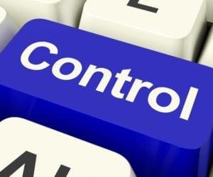 Blue Keyboard Control Button