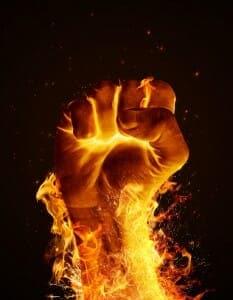 Fiery fist
