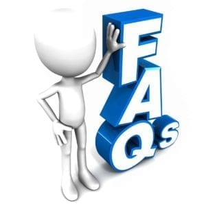 Clay figure leaning on FAQs: Frequently Asked Divorce Questions