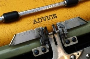 "Close up of the word ""Advice"" typed on a typewriter. Marriage advice."