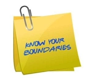 Yellow Post it Note with the words: Know Your Boundaries.