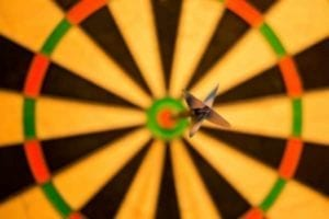 Close up of dart in a bulls eye: how you can win when you're divorcing a narcissist
