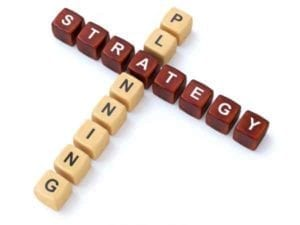 Letter cubes spelling planning and strategy. What's your divorce strategy.
