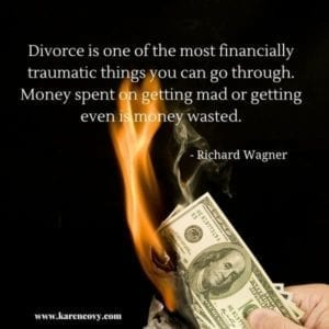 Divorce quote: Divorce is one of the most financially traumatic things you can go through. ...