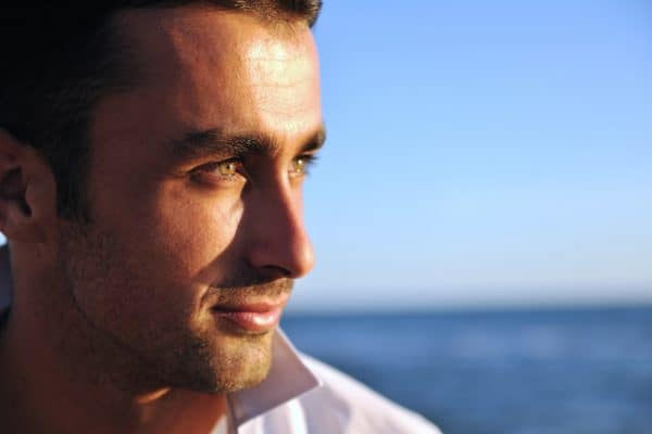 Profile of a handsome man: divorce advice for men.