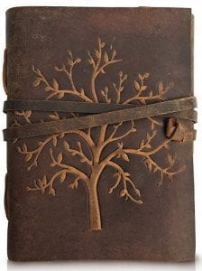 Cover of a beautiful leather tree of life journal