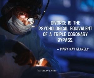 "Picture of surgeon in surgery with divorce meme, ""Divorce is the psychological equivalent of a triple coronary bypass."""